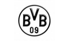 Auto-Aufkleber Borussia Dortmund Schwarz - 8 x 8 cm