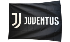 Flagge mit Hohlsaum Juventus Turin Logo  - 100 x 140 cm