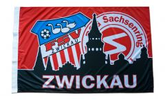 Flagge mit Hohlsaum FSV Zwickau - 80 x 120 cm