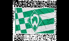Flagge mit Hohlsaum Werder Bremen Raute  - 100 x 150 cm