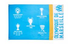 Hissflagge Olympique Marseille Palmarès - 90 x 150 cm