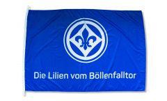 Hissflagge SV Darmstadt 98 Die Lilien vom Böllenfalltor - 100 x 150 cm