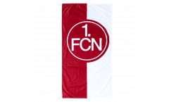 Hissflagge 1. FC Nürnberg Logo rot-weiß - 7r x 150 cm