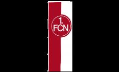 Hissflagge 1. FC Nürnberg Logo rot-weiß - 150 x 400 cm