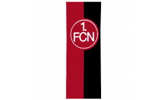 Hissflagge 1. FC Nürnberg Logo rot-schwarz - 150 x 400 cm