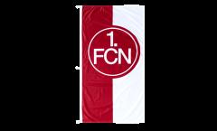Hissflagge 1. FC Nürnberg Logo rot-weiß - 120 x 250 cm
