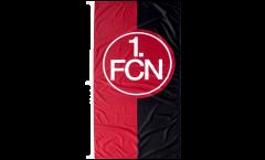 Hissflagge 1. FC Nürnberg Logo rot-schwarz - 120 x 250 cm