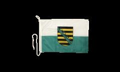Bootsfahne Deutschland Sachsen - 30 x 40 cm