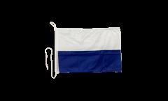 Bootsfahne Blau / Weiß - 30 x 40 cm
