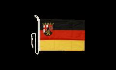 Bootsfahne Deutschland Rheinland-Pfalz - 30 x 40 cm