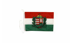Bootsfahne Ungarn mit Wappen - 30 x 40 cm