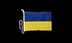 Bootsfahne Ukraine - 30 x 40 cm