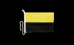 Bootsfahne Gelb-Schwarz - 30 x 40 cm