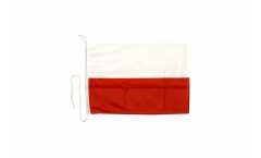 Bootsfahne Polen - 30 x 40 cm