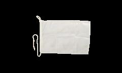 Bootsfahne Einfarbig Weiß - 30 x 40 cm