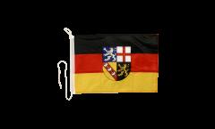Bootsfahne Deutschland Saarland - 30 x 40 cm