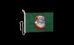 Bootsfahne Weihnachtsmann - 30 x 40 cm