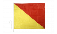 Signalflagge Oskar (O) - 75 x 90 cm
