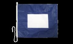 Signalflagge Papa (P) - 75 x 90 cm