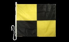 Signalflagge Lima (L) - 75 x 90 cm