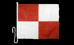 Signalflagge Uniform (U) - 75 x 90 cm