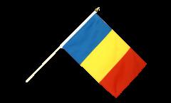 Stockflagge Rumänien - 10er Set - 30 x 45 cm