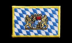 Aufnäher Deutschland Bayern mit Löwe - 8 x 6 cm