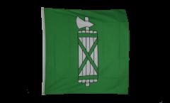 Flagge Schweiz Kanton St. Gallen - 90 x 90 cm