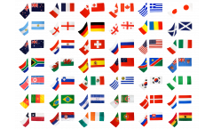 Stockflaggen-Set Fussball 2010, Gruppe E - 60 x 90 cm