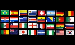 Fahnen Set WM 2014 - 60 x 90 cm