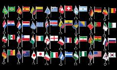 Tischfahnen Set WM 2014 - 10 x 15 cm