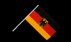 Stockflagge Deutschland mit Adler - 60 x 90 cm