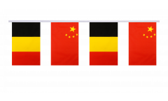 Freundschaftskette Belgien - China - 15 x 22 cm