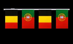 Freundschaftskette Belgien - Portugal - 15 x 22 cm