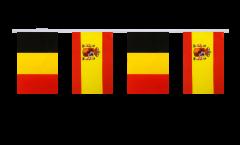 Freundschaftskette Belgien - Spanien - 15 x 22 cm