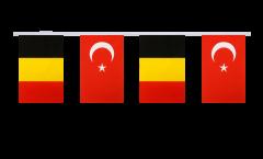 Freundschaftskette Belgien - Türkei - 15 x 22 cm