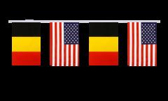 Freundschaftskette Belgien - USA - 15 x 22 cm