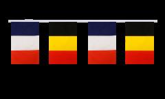 Freundschaftskette Frankreich - Belgien - 15 x 22 cm