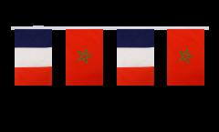Freundschaftskette Frankreich - Marokko - 15 x 22 cm