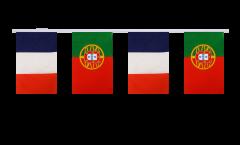 Freundschaftskette Frankreich - Portugal - 15 x 22 cm