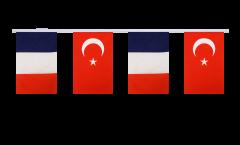 Freundschaftskette Frankreich - Türkei - 15 x 22 cm