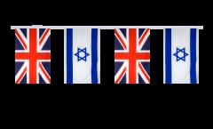 Freundschaftskette Großbritannien - Israel - 15 x 22 cm