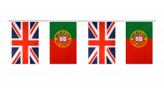 Freundschaftskette Großbritannien - Portugal - 15 x 22 cm