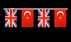 Freundschaftskette Großbritannien - Türkei - 15 x 22 cm