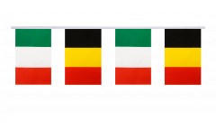 Freundschaftskette Italien - Belgien - 15 x 22 cm