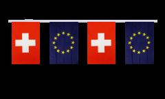 Freundschaftskette Schweiz - Europäische Union EU - 15 x 22 cm