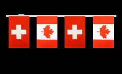 Freundschaftskette Schweiz - Kanada - 15 x 22 cm