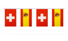 Freundschaftskette Schweiz - Spanien - 15 x 22 cm
