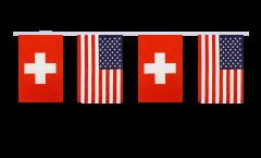 Freundschaftskette Schweiz - USA - 15 x 22 cm