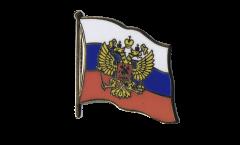 Flaggen-Pin Russland mit Wappen - 2 x 2 cm